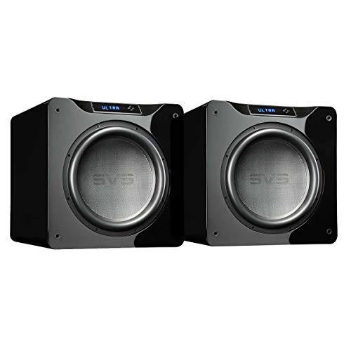 SVS Dual SB16-Ultra Subwoofer (Piano Gloss Black) – 16-inch Driver, 1,500-Watts RMS, DSP App Control, Sealed Cabinet
