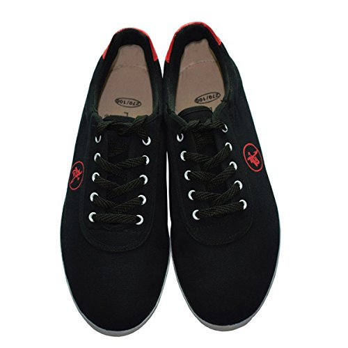 TimeBus Chinese Traditional Breathable Martial Arts Tai Chi Kung Fu Shoes, 46-(US)men10-(CM)28 – Black