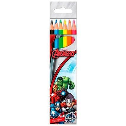 Blister 6 lapices colores Vengadores Avengers Marvel: Amazon ...