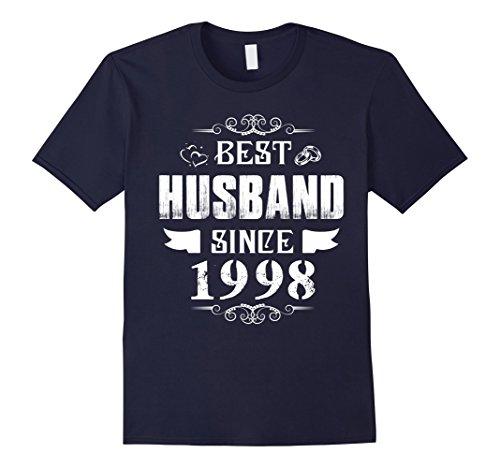 Mens Anniversary Gift 20 Years Wedding - Best Husband Since 1998 2XL Navy