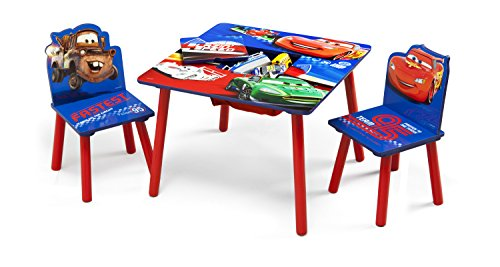 Delta Children's Products - Disney Pixar's Cars Table and Chair Set W/Storage by 5Star-TD