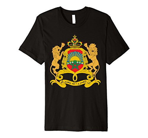 (Morocco Coat Of Arms T Shirt National Moroccan Emblem tee)