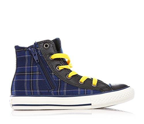 CONVERSE - Blaue Sneakers mit Schnürsenkel, aus Stoff, seitlich ein Reißverschluss, Kind, Jungen