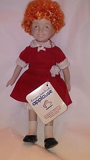 Little Orphan Annie Genuine Porcelain Doll - Aileen Quinn Hand Painted Moviestar Replica (1982 Applause/Knickerbocker) by Annie