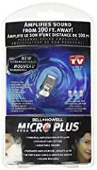 Perfect for watching TV without disturbing others, theater, and nature walks. Micro Plus is a personal sound amplifier that provides up to 50 DB of sound amplification. Its very discreet and resembles a cell phone earpiece, so you no longer h...