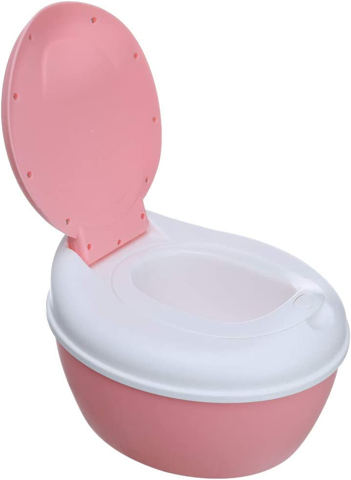 Hisoul Babys Toilets Anti-Slip Stripe Multi-Stage 3-in-1 Potty Training Toilet Removable and Easy to Clean