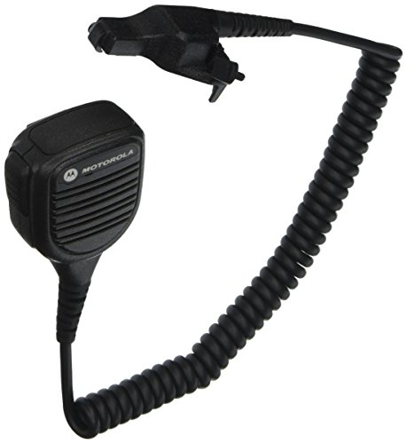 Motorola Original OEM PMMN4051 PMMN4051B Windporting Remote Speaker Microphone with 3.5mm Audio Jack, IP55 Water Resistant, Intrinsic Safety Standard FM by Motorola