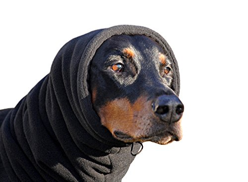 Euro Dog Designs Fleece Snood Size:M(16inch/40cm) Color:Black