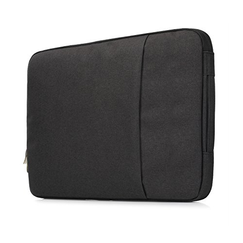 Premium Denim Series Anti-tear Protective Sleeve Handbag Case Bag with Pocket for MacBook Pro 15 Retina(2015 or Older Version) and NEWEST MacBook Pro 15 with Touch Bar(Release October 2016), Black