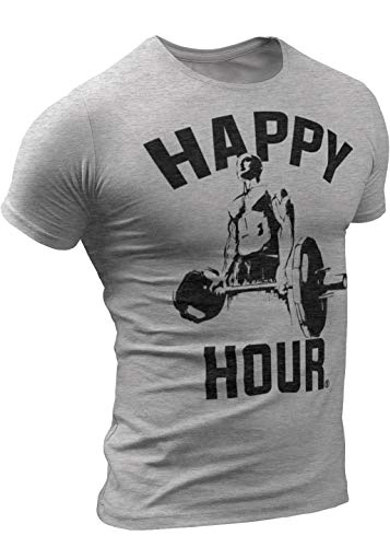 (0055) Crossfit Workout Weightlifting T-Shirt for Men