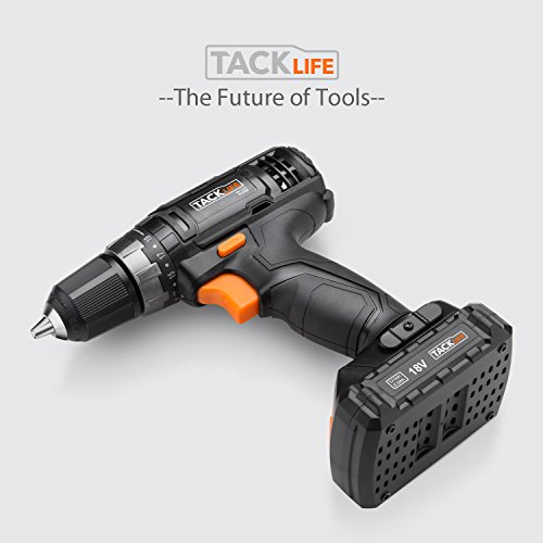Tacklife-PCD05B-20V-MAX-38-Cordless-Drill-Driver-Set-2-Speed-Max-Torque-265-In-lbs-191-Position-with-LED-43pcs-Accessories-Included-20Ah-Lithium-Ion-Battery