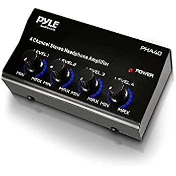 Pyle-Pro PHA40 4-Channel Stereo Headphone Amplifier