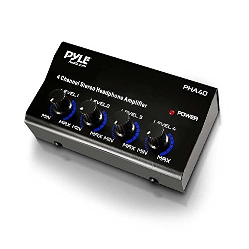 Pyle Pro PHA40 4 Channel Headphone Amplifier