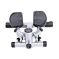 Sidestepper Mini Stepper Fitness Stepper Heimtrainer inkl. Trainingsbänder...
