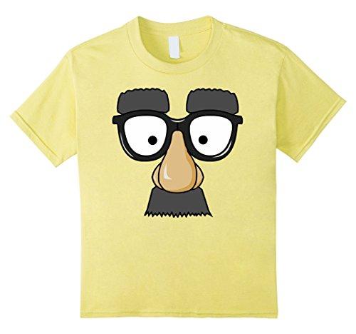 Nerd Costume Ideas Boy (Kids Emoji Nerd Shirt Face Geek Funny Costume Glasses Gift 8 Lemon)