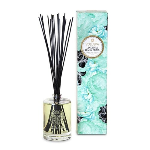 Voluspa Maison Jardin Collection, Home Ambience Diffuser, Linden and Dark Moss, 6 oz