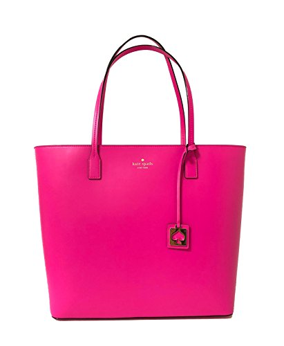 Pink Kate Spade - Kate Spade Karla Beech Street Smooth Leather Tote Shoulder Bag Purse Handbag (Peony Pink)