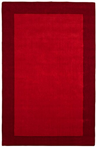 St Croix Trading Solid/Striped Rectangle Area Rug 4'x6' Red Pulse Collection