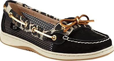 Sperry Top-Sider Women's Angelfish Leopard,Black Leather,US 7.5 W