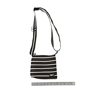 ZIPIT Mini Shoulder Bag, Black & Silver Teeth