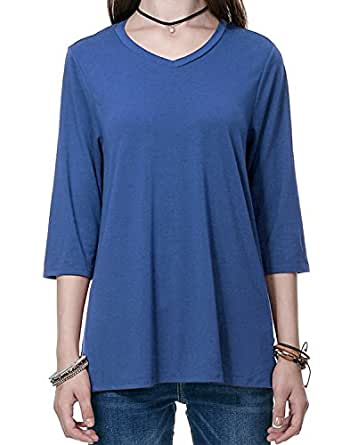 REGNA X Boho for woman's loose fit jersey pleated blue small pleat back shirts shirt long tee tunics blouses