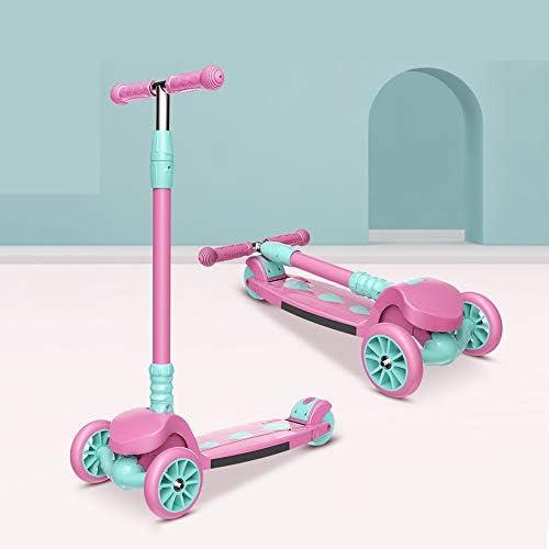 PU点滅ホイール、4高さ調節、操縦するリーンデザイン、3から16歳までの幼児のための折り畳み式のスクーターと子供のためのスクーター、子供の3ホイール用スクーターキック