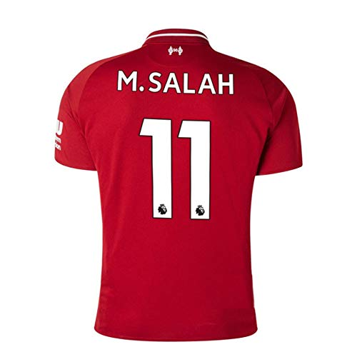 Noumhtz Mens M Salah Jersey #11 Liverpool 2018/19 Football Shirt Home Soccer Sizes Red (Red, Large)
