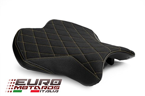 Yamaha R6 2017-2018 Luimoto Diamond Suede Tec-Grip Seat Cover For Rider (Luimoto Cover Seat)