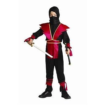 Amazon.com: rgcostume 90139-r-s niños Ninja master-red Armor ...