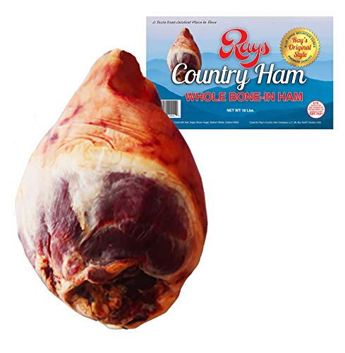 Rays Country Ham - 16 lb. - Whole Bone-in Country Ham - Blue Ridge Mountain - Ham Cured