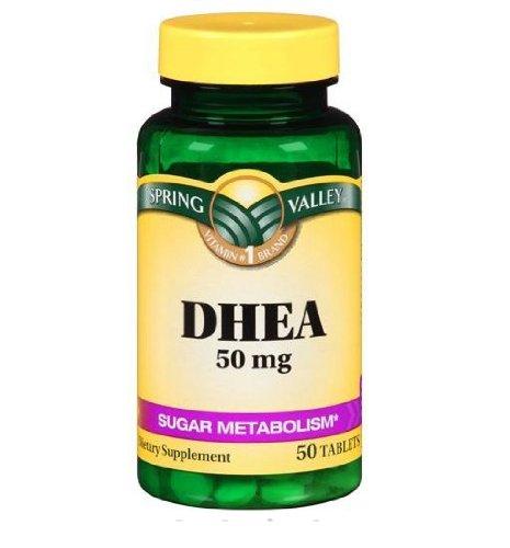 Spring Valley complément alimentaire DHEA 50mg 50 comprimés sucre métabolisme Vitalité