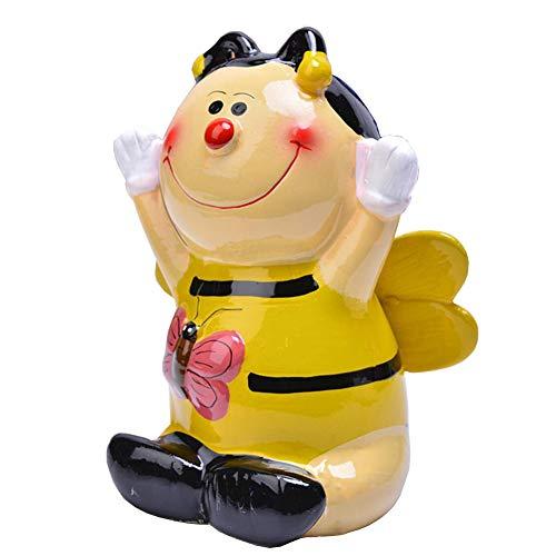 Lovely Piggy Bank Porcelain Money Box Bee