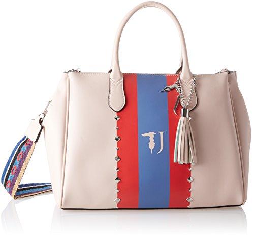 Trussardi Jeans Blondie, Borsa Tote Donna, 40x43x23 cm Rosa