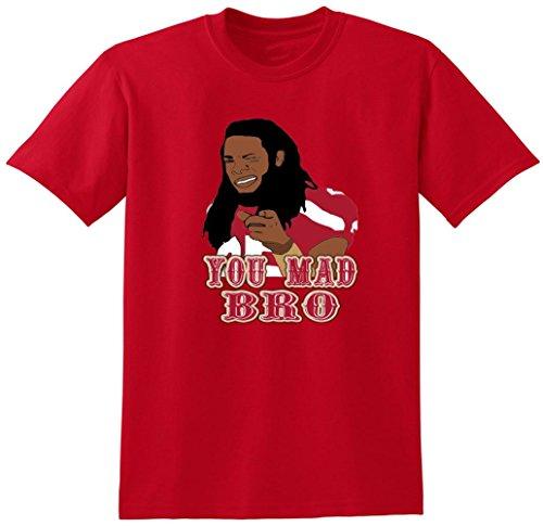 JM Shirts Red San Francisco Sherman You Mad Bro T-Shirt Adult