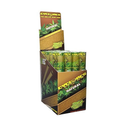 CYCLONES PRE ROLLED HEMP CONES NATURAL FLAVOR PACK OF 24