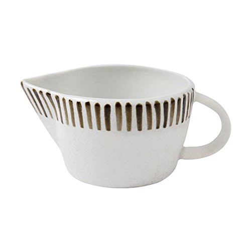 Vintage Japanese Ins Style Cute Golden Line Striped Spout Crude Pottery Ceramic Coffee Milk Creamer Pot Cooker Serving Sauce Porcelain Pitcher Cup Jug Vase with Handle for Kitchen Home Decor Gift ()
