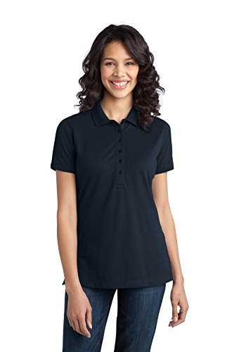 Port Authority Women's Stretch Pique Polo XXL Dress Blue Navy