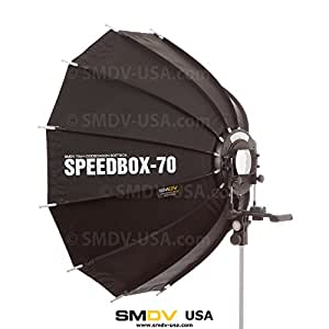 SMDV Diffuser Speedbox-S70 - Professional 28-inch (70cm) Rigid Portable Quick Folding Dodecagon Softbox for Speedlight Flash - LegioAerium Limited Edition
