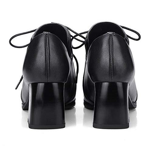 Escarpins Bouche Bretelles des épaisses 453 Noires avec Rond Printemps Bout croisées Profonde Les MSM4 à à Chaussures Black Femmes qwXxpFAC
