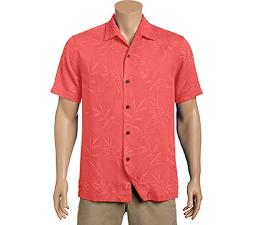 Tommy Bahama Island Luau Silk Camp Shirt (Color: Fusion, Size XL)