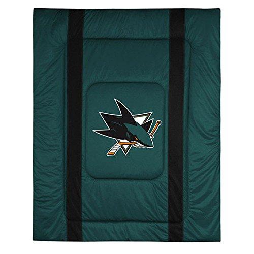 NHL San Jose Sharks King Bed Comforter Sidelines Hockey Team Logo Bedding