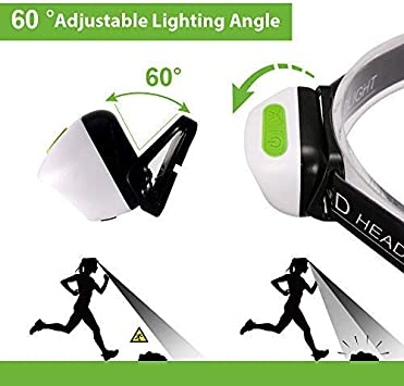 Head Torch karrong Ultralight induction Running Phare rechargeable USB IPX6