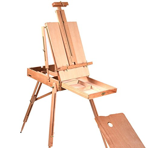 Hot Bestseller French Easel Wooden Sketch Box Portable Folding Durable Artist Painters (8830 Series)