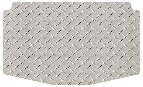 Intro-Tech SB-129-DP Diamond Plate Cargo Area Custom Floor Mat for Select Subaru Legacy Outback Wagon Models - Simulated Aluminum, Medium, -