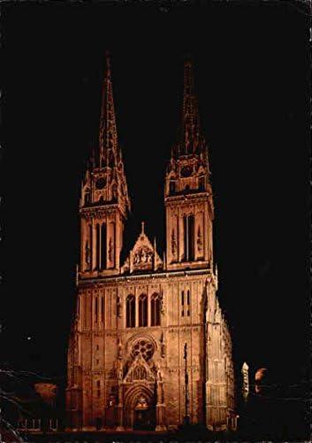 Zagreb Cathedral Zagreb Croatia Original Vintage Postcard 1970 At Amazon S Entertainment Collectibles Store