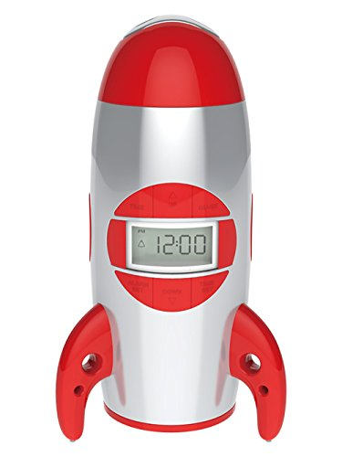 (Big Red Rooster BRRC100 Rocket Ship Projection Alarm Clock, Operates On 3 C Batteries (Not Included))