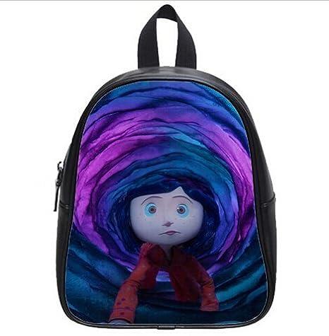 Handmade Goods Productos Hechos a Mano los niños Mochila Personalizada Coraline Cartoon Printed Estudiantes Escuela Bolsa (Grande) como Regalos: Amazon.es: ...