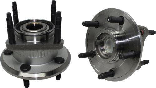 Jeep Hub Assembly (Brand New (Both) Rear Wheel Hub and Bearing Assembly Jeep Comander, Grand Cherokee 5 Bolt W/ ABS (Pair) 512302 x2)
