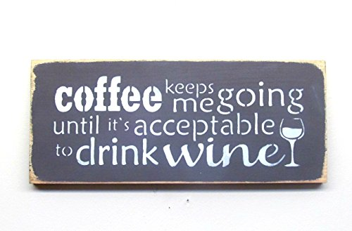 Funny Coffee Wine Sign / Wooden Sign / Kitchen Decor ~ Co...