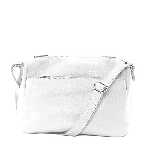 CUIR DESTOCK cuir à grainé Blanc main Sac nouvelle collection femme en SS6rdqYw